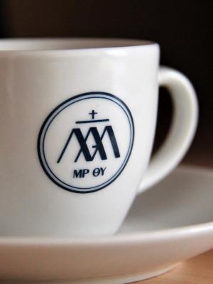 Porcelán kávés csésze alátéttel