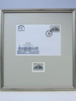 Keretezett jubileumi bélyeg és első napi boríték