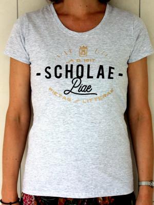 Scholae Piae - női szürke vintage póló