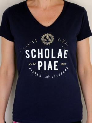 Scholae Piae - női sötétkék vintage póló