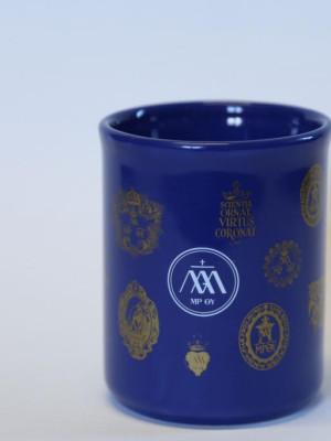 Kék porcelán bögre