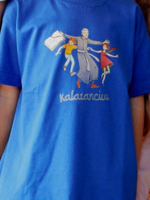 Kalazancius, fiú gyermekpóló kék és zöld színben