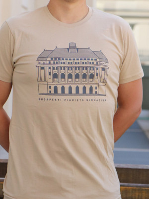 Budapesti iskolaépületes férfi póló