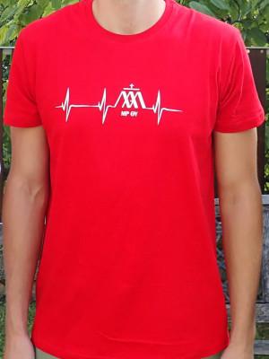 EKG piros férfi póló