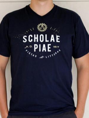 Scholae Piae - vintage kék póló