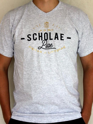 Scholae Piae - szürke vintage póló