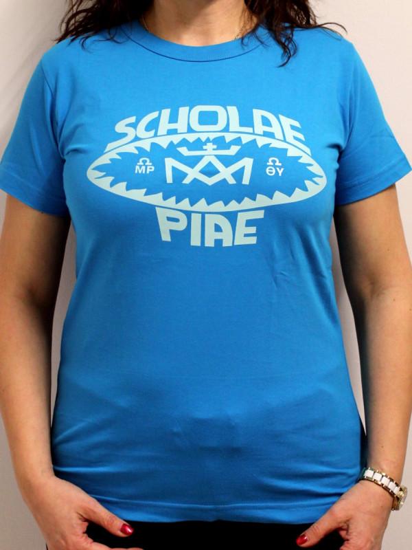 7a1c699e78 Scholae Piae retro női póló 3 féle színben | Piarista Ajándékbolt